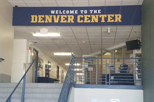 Denver main entrance showing welcome banner
