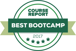 Best bootcamp award badge from Course Report