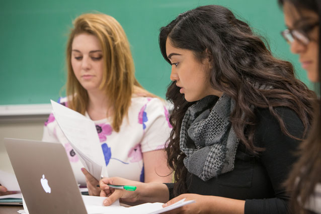 Photo of secondary education students working in classs