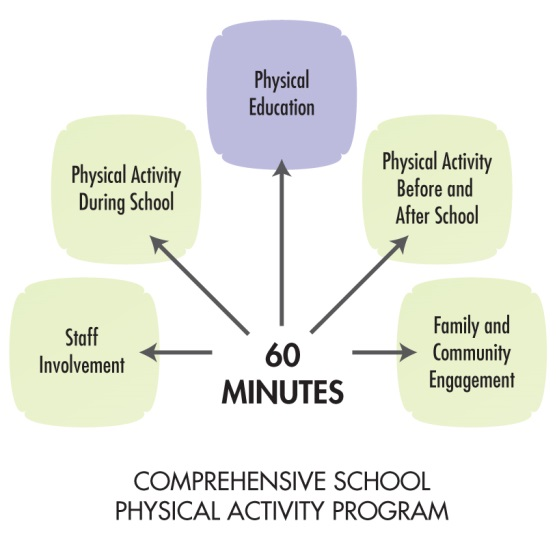 Comprehensive physical activity program diagram